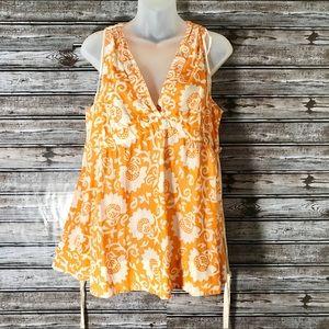 ANTHRO Edme & Esyltte Orange Print Blouse | 12